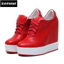 {Zorssar} Women sneakers Shoes high heel pumps 2018 New Womens Wedges Height Increasing Casual shoes Ladies Platform