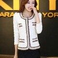 2016 nova moda outono mulheres lace noble elegante tweed curto outerwear revestimento das mulheres venda Quente