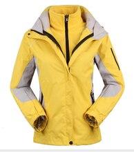 women's Skiing Jackets+Fleece jacket lady outdoor sports coat women ski suit warm waterproof 2 in 1 female ski wear coat