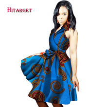 New african dresses for women 2017 summer print dress clothing sexy Traditional WY1750