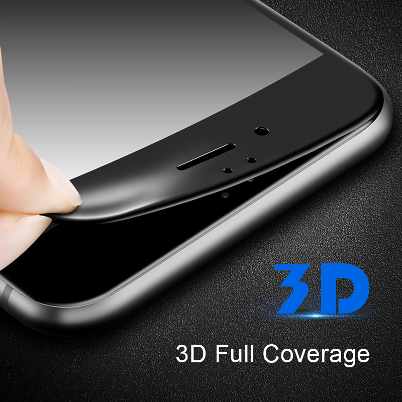 SMORSS 3D Curved Edge Full Cover Tempered Glass For Iphone X 8 8plus 7 7plus 6s 6splus 6plus 6 Screen Protector Film