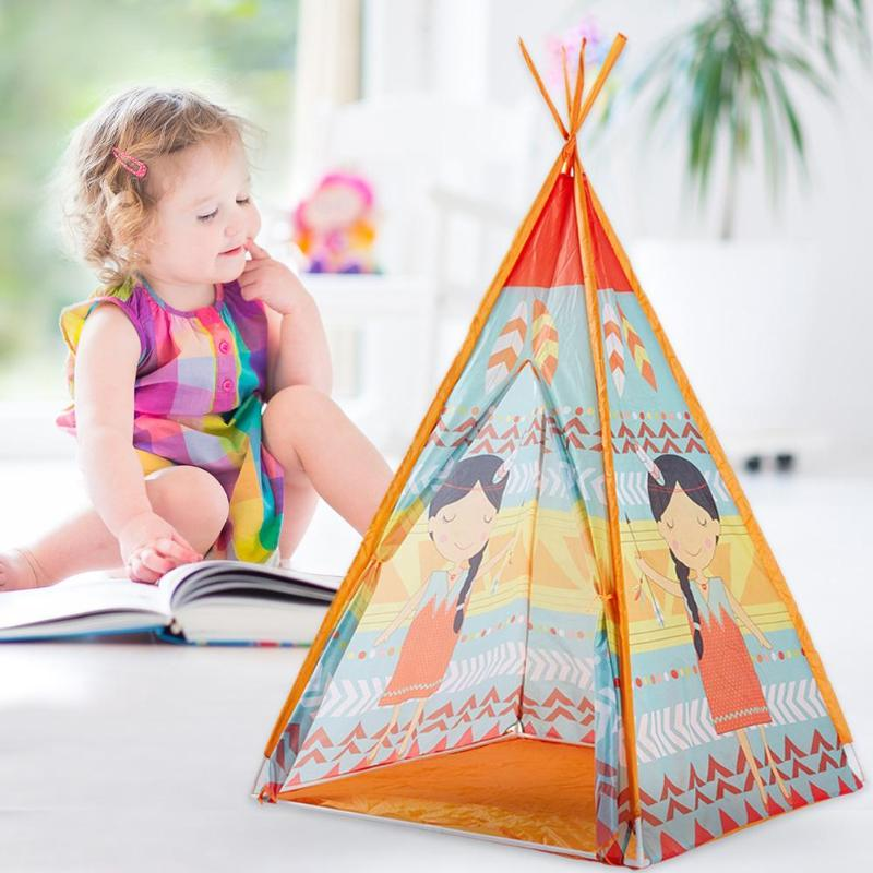 Kid Tent Children Teepee Play Tent House Portable Children Tent Playhouse 165*100cm Present Princess Castle Birthday Xmas GIftKid Tent Children Teepee Play Tent House Portable Children Tent Playhouse 165*100cm Present Princess Castle Birthday Xmas GIft