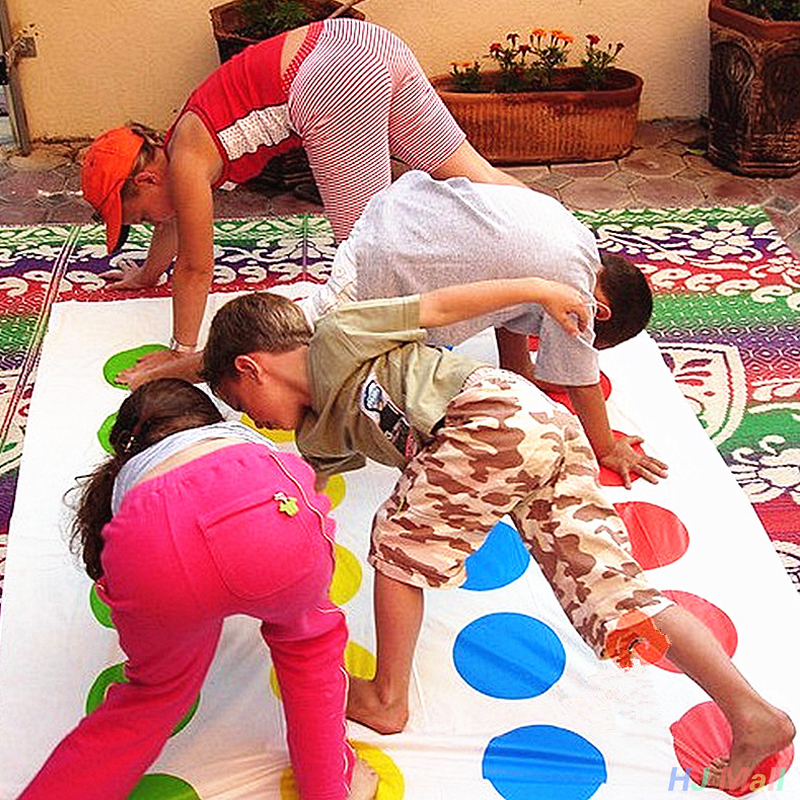 Funny Kids Body Twister Moves Mat Board Game Group Party Sport Toy Gift
