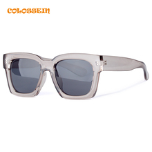COLOSSEIN BLUE LABEL Hot Summer Fashion Cool Sunglasses Women Men Loves Square Frame High Quality Eyewear 2017 New Trendy
