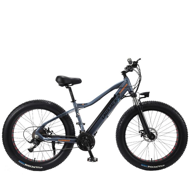 LAUXJACK 27 Alluminium Frame Fatbike Bicicleta Elétrica Velocidade Freio Mecânico 26