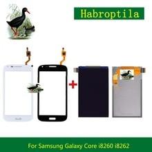 Дешевые Высокое качество 4.3 «для Samsung GALAXY CORE I8260 i8262 Duos GT 8262 8260 ЖК-дисплей Дисплей с Сенсорный экран планшета Сенсор Панель
