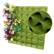 Green Vertical Grow Bag Gardening Wall Hanging Felt Bonsai Bags 9/12/18/36/49/64/72 Pockets Flowers Growing Pot Growing Bags цена 2017