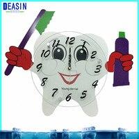 2018 deasin 10 pcs hot sale dental decorations crafts dentist gift dental colock for Clinic dental wall clock