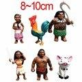 12 pçs/set Moana Princesa 2016 NOVA Moana Maui Waialik Heihei PVC Figuras de Ação Toy Presente de Natal para Crianças