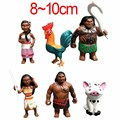 12pcs/set Moana Princess 2016 NEW Moana Maui Waialik Heihei PVC Action Figures Toy Christmas Gift for Kids