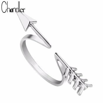 10pcs Wholesale Gold Silver Plated Arrow Finger Rings For Women Romantic Punk Boho Fashion Accessaries Adjustable Knuckle Bague