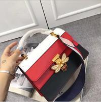 lkprbd new handbag fashion 100% leather handbag shoulder bag for female trends in Europe and America diagonal platinum bag