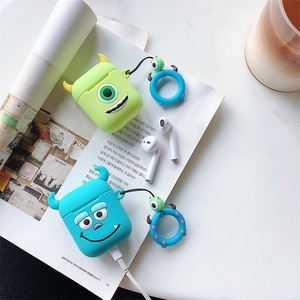 Image 4 - Cute Cartoon Soft Silicone Case For Apple Airpods Shockproof Cover For AirPods Earphone Cases Air Pods Case Earphone Accessories