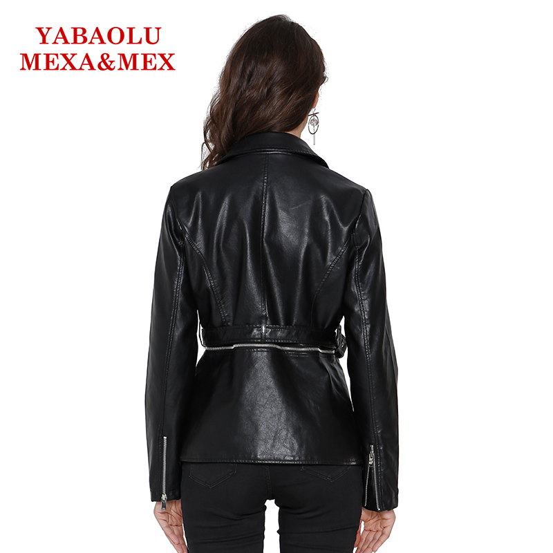 Manteaux Mince Mode En Faux Causalité Vestes Veste Femmes Pu Dames Manteau De Noir Cuir Amovible Survêtement Ceinture xqggOCUn7w