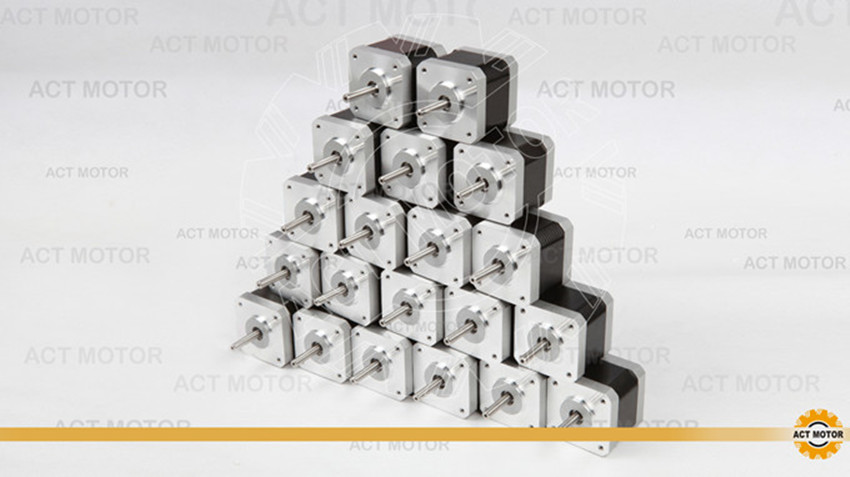 Free Ship From Germany! ACT 20PCS Nema17 Stepper Motor 17HS5425 2Phase 70oz-in 48mm 2.5A CE ROSH ISO 3D Printer Robot Reprap