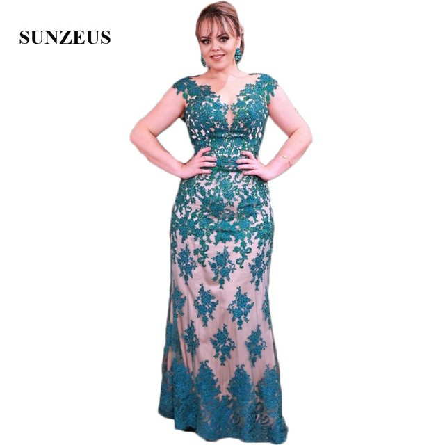 Cap Sleeve Sheath Ladies Dresses for Wedding Party Scoop Emerald Green  Appliques V Back Mother of the Bride Dresses SMD11 96a82c637da2