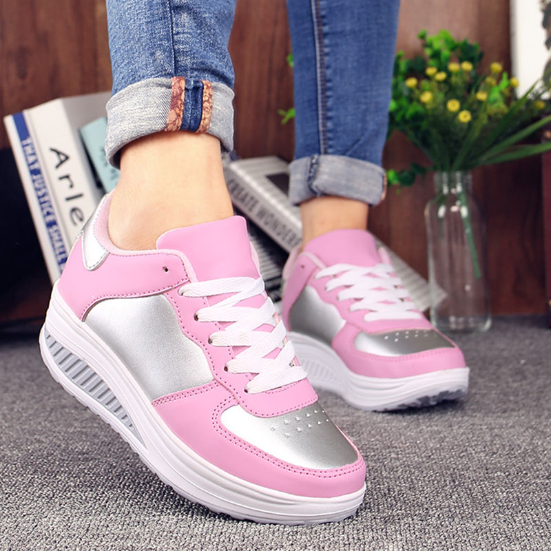 Slipony Flats Sneakers Women Platform Shoes Lace Up Trainers Creepers Wedge Casual Shoes Summer Basket Femme fashion women flats summer leather creepers platform sneakers causal shoes solid basket femme white black