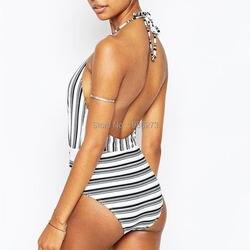Новинка 2019, сексуальный женский купальник с глубоким v-образным вырезом размера плюс, бразильский стиль, индивидуальный Цельный купальник в... 2
