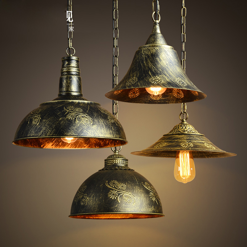 Industrial Pendant Light  Bronze Dining Room lamparas colgantes Green hanging lightings Metal aydnlatma AC90-260V Parlor D122 allen roth brinkley handsome oil rubbed bronze metal toothbrush holder