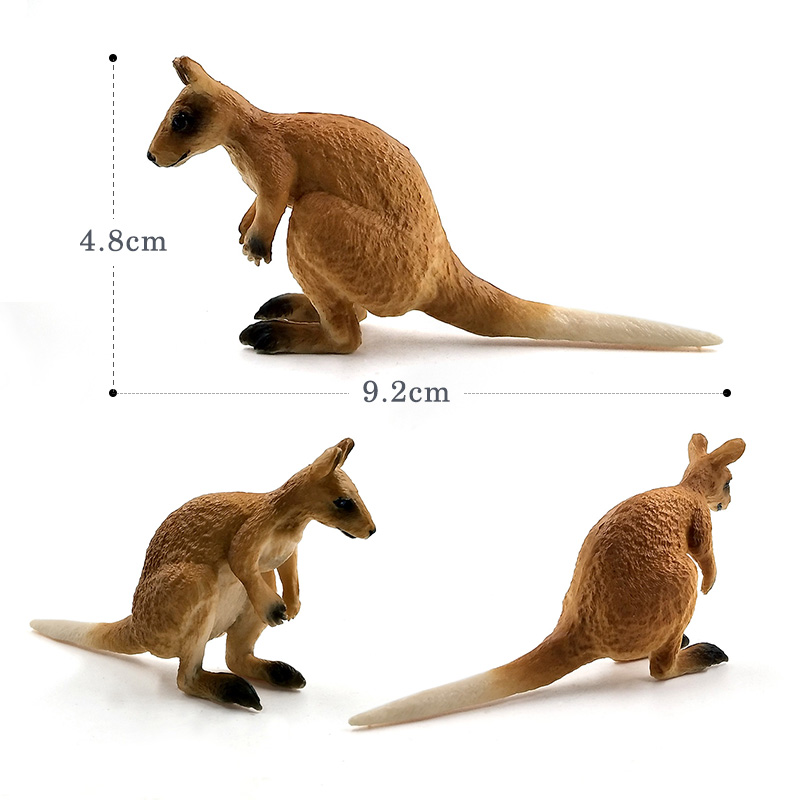 Artificial Little Bear Kangaroo Monkey Simulation animal model figure plastic Decoration educational toy figurine Gift For Kids in Action Toy Figures from Toys Hobbies