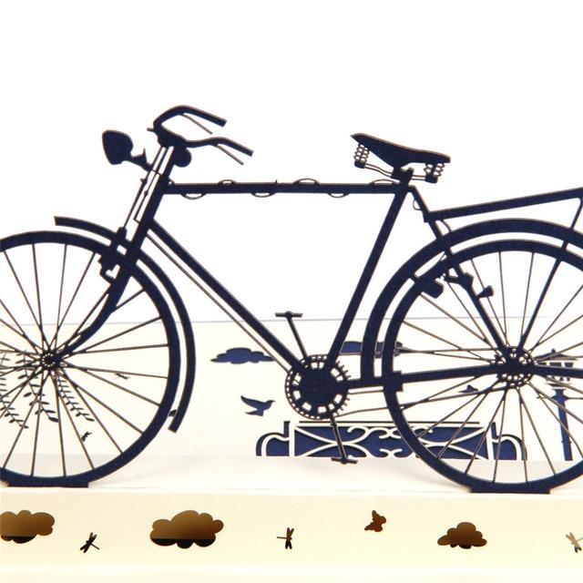 3D Vintage Bike Birthday Card