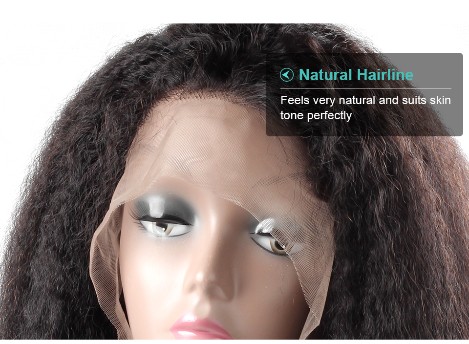 Allove yaki straight human hair lace front wigs (8)