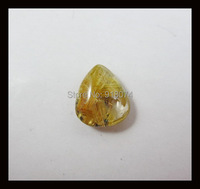 Natural Stone Gold Rutilated Quartz Cabochon 15x13x6mm 1 81g