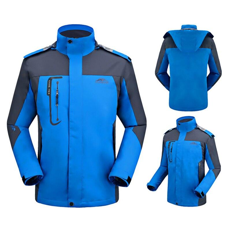 цены Men's Waterproof Thin Jacket Outdoor Spring Windbreaker Camping Hiking Fishing Softshell Windproof Jacket Men Rain Coat Big Size