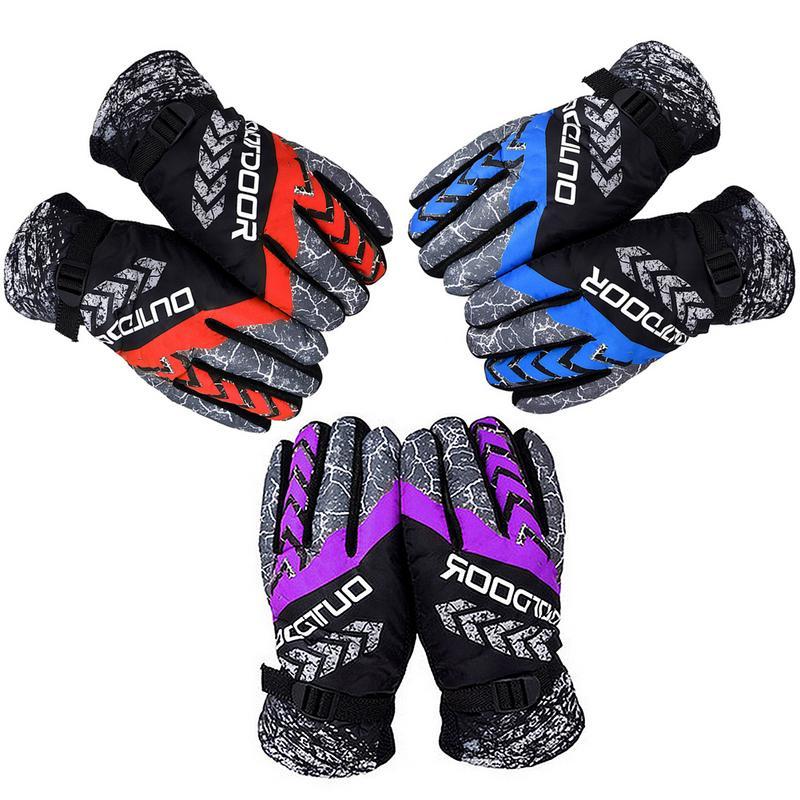 Men Women Waterproof Heated Winter Warm Skiing Gloves Windproof Thickening Outdoor Sports Riding Motorcycle Snowboard Ski Gloves