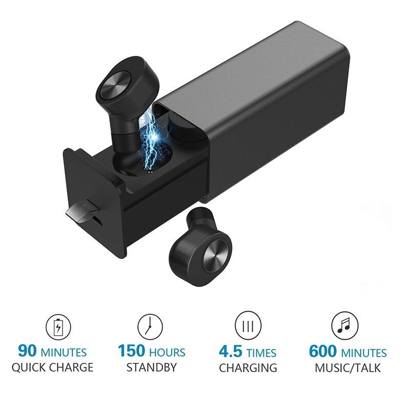 Bluenin True Draadloze Hoofdtelefoon Sport Bluetooth V4.2 Oordopjes Best In Ear Draadloze Koptelefoon met Opladen Case voor huawei p9 lite - 4