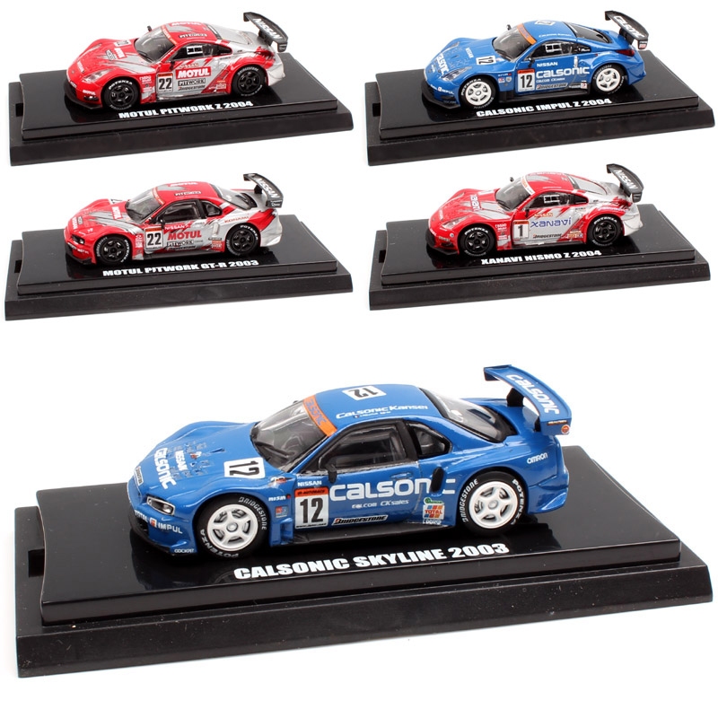 1:64 Scale kyosho Japan super GT JGTC Nissan Calsonic Skyline GTR Motul Pitwork Fairlady Z Nismo 2003 2004 diecast model toy car
