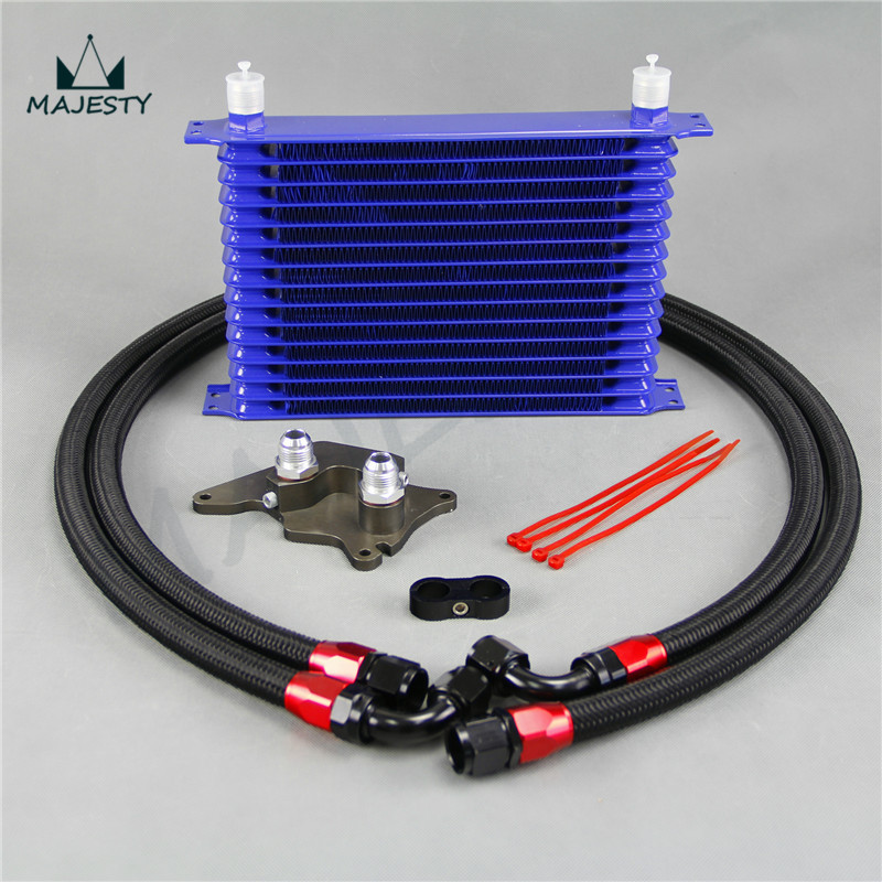 15 Row Engine Oil Cooler Kit Fit Mini Cooper S
