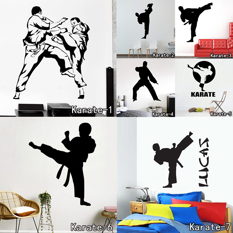Karate Martial Arts Man Wall Decal Customized Chinese Kongfu Fighting Creative Vinyl Sticker Home Decoration Free Shipping