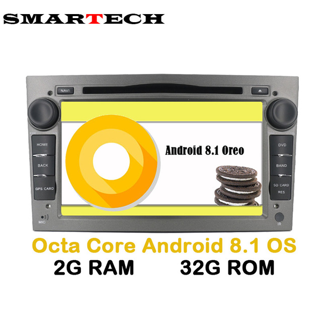 2 Din 8 Core Android 8.1 Car Radio GPS for OPEL AstraH Antara Zafira Veda Agila Corsa Vectra Car DVD GPS Navigation Wifi 2G+32G