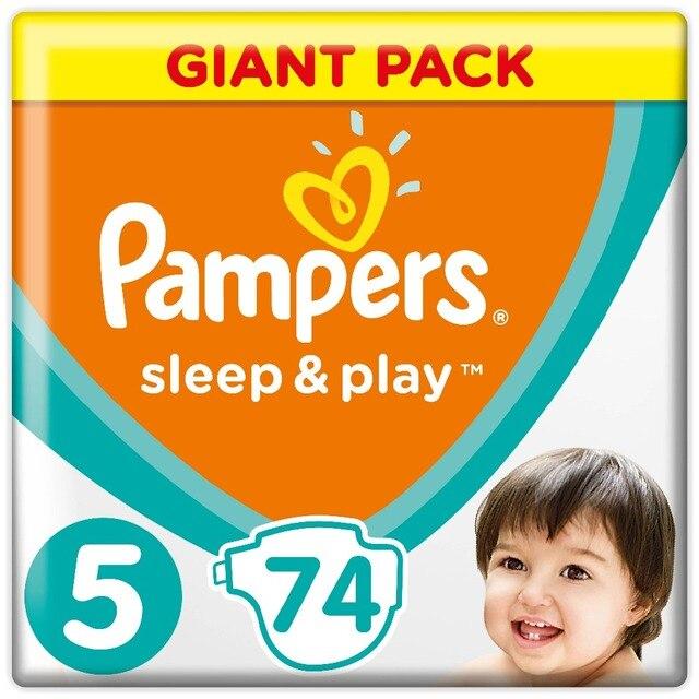 Подгузники Pampers Sleep & Play 11-16 кг, Размер 5, 74 шт.