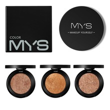 MYS 6 color shimmer professinal face makeup bronzer and highlighter palette powder make up glow kit highlighter contour palette недорого