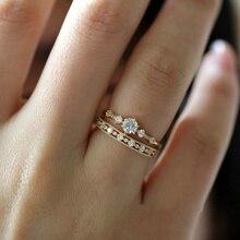 Милые изящные женские кольца в виде снежинок, нежные кольца, кольца, свадебные ювелирные изделия