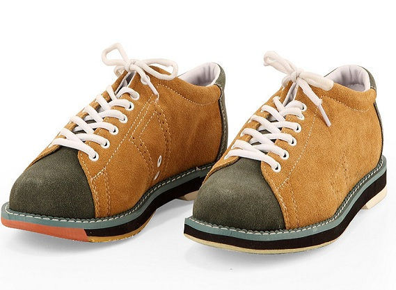 Leather Men font b Bowling b font Shoes With Skidproof Sole