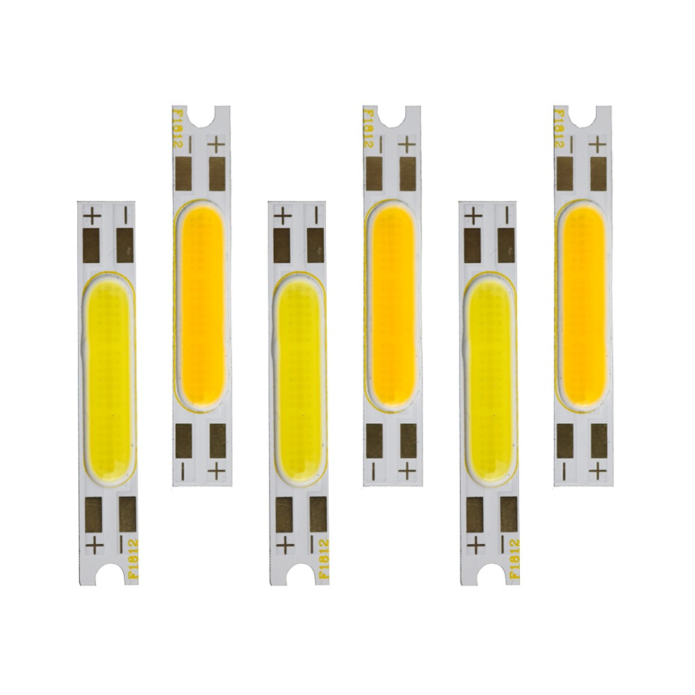 DC 9V 3W 45*7mm mini COB LED Strip Light White/Warm White LED Bulbs indoor outdoor DIY Lamps Strip Light for Decration DA