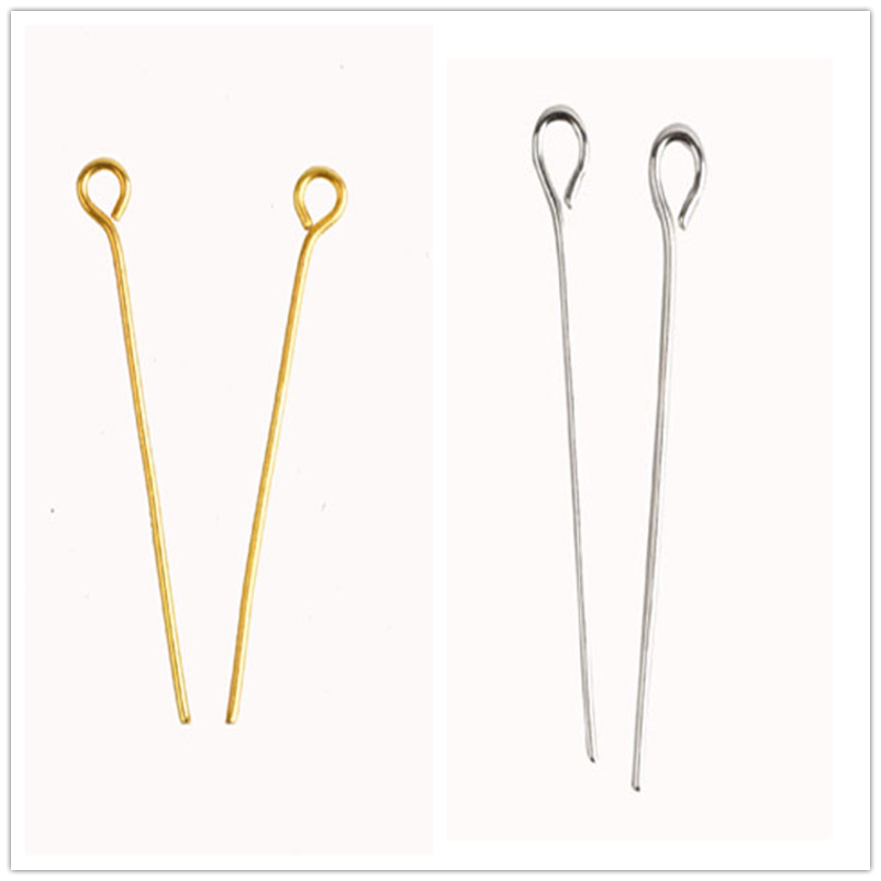 Wholesale Silver//Gold Plated Eye Pins Needles Jewelry Findings 6 Sizes Hot
