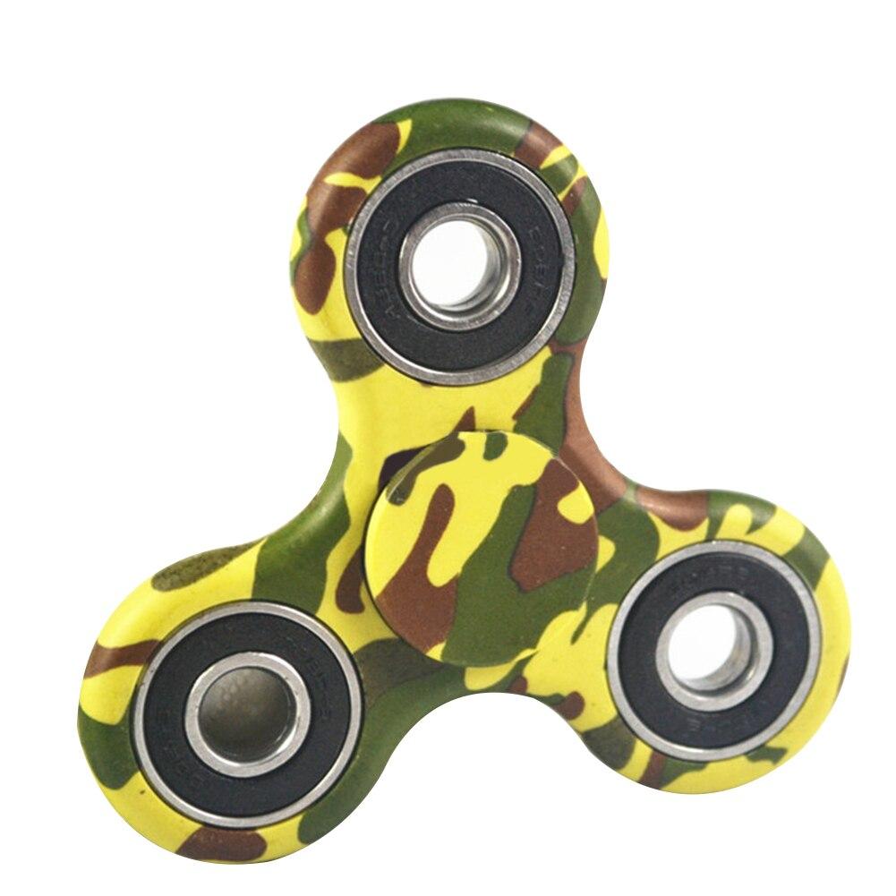 3D Hand Finger Spinner EDC Focus Stress Reliever Fidget Toys Camouflage Green