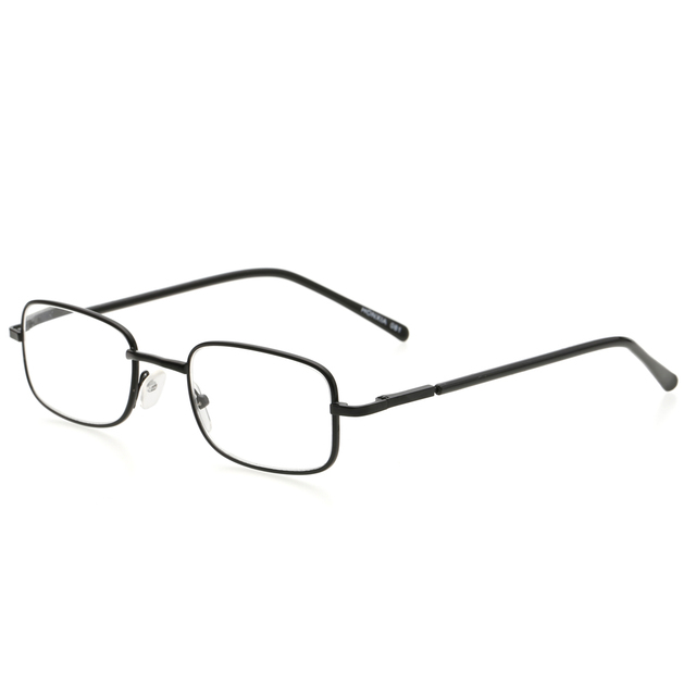100-400 Degree Old Man Reading Glasses Metal Eyeglasses Frame Rectangle Presbyopia Hyperopia