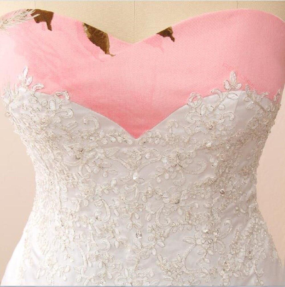 Pink Printing Wedding Dresses Sweetheart Neckline Vestidos de novia ...