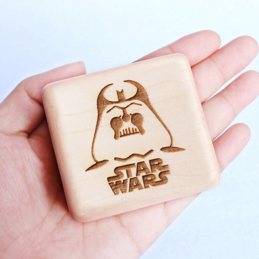 Sinzyo Handmade Wooden Star Wars Music Box Wood Carved Mechanism Musical Box Gift For Christmas Valentine
