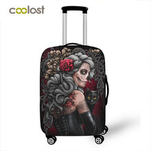 Dark Gothic Skull / Beauty Luggage Protective Cover Waterproof Elastic Suitcase Covers Travel Accessories Covers For 18-28 inch(China)