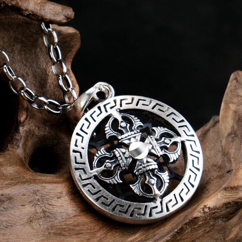 The Cross Vajra Hollow Vintage S925 Silver necklace Thai silver pendant Jewelry mygrillz