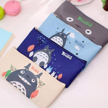 Cute Kawaii Fabric Pencil Case Lovely Cartoon Totoro Pen Bags For Kids Gift School Supplies Free Shipping 1111
