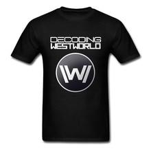 Custom Printed T Shirts Westworld Science TV Couple Bulk Short Sleeve Cotton T Shirt Big Size