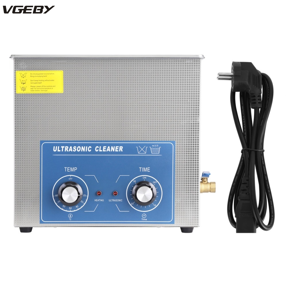 220V 2L 3L 6L 10L 14L Stainless Steel Mechanical Ultrasonic Cleaner Bath Heated Timer Cleaning Tank