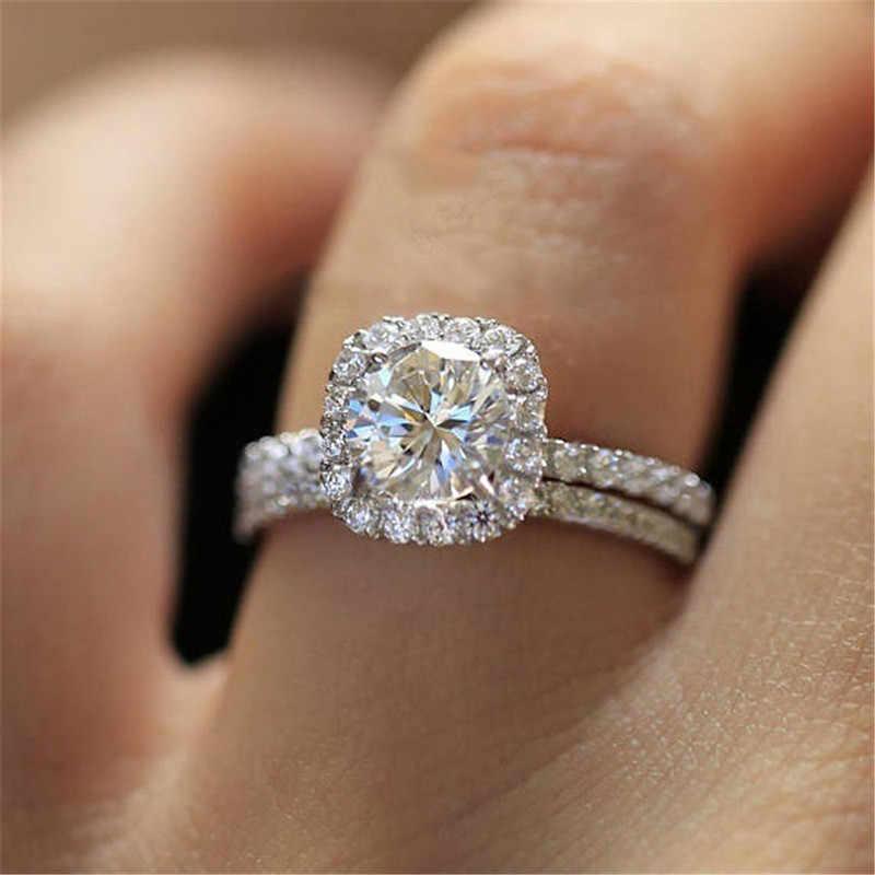 Modyle คลาสสิกหมั้นแหวน 6 กรงเล็บออกแบบ AAA White Cubic Zircon หญิงวงแหวน CZ สำหรับผู้หญิง